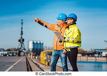 река, коммерческая, workers, порт