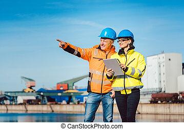 река, порт, коммерческая, workers