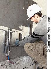 ремонт, воды, водопроводчик, поставка