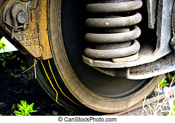 ржавый, поезд, старый, wheels