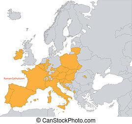 римский, католицизм, в, европа
