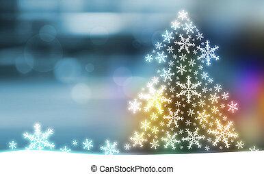 рождество, дерево, дизайн