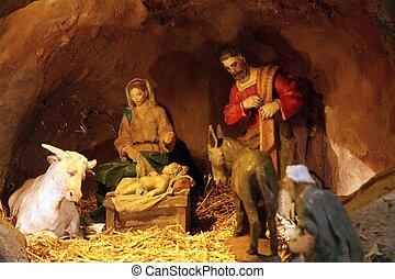 рождество, место действия