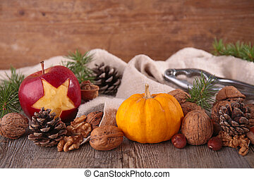 рождество, питание, задний план