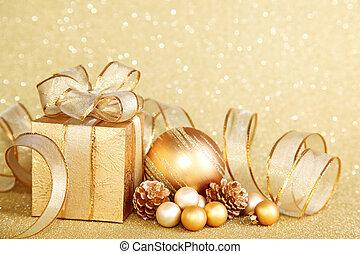 рождество, подарок, коробка