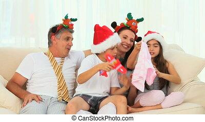 рождество, семья, день