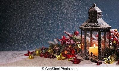 рождество, фонарь, украшение