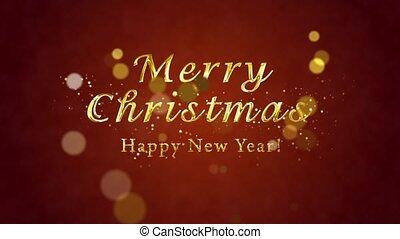 рождество, (introductory, card., новый, template).,...