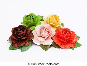 роза, бумага