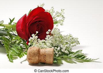 роза, красный
