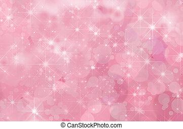 розовый, абстрактные, звезда, задний план