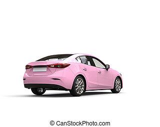 розовый, бизнес, автомобиль, современное, -, быстро, хвост, симпатичная, посмотреть