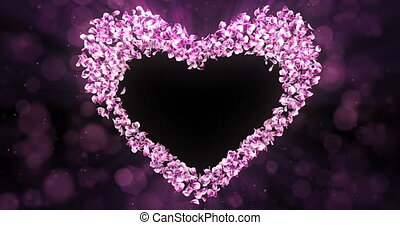 розовый, сердце, цветок, роза, форма, petals, штейн, sakura, альфа, заполнитель, петля