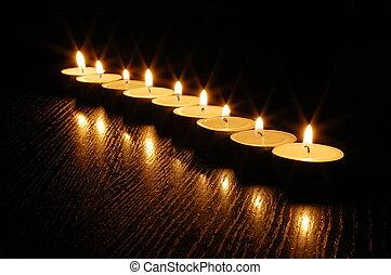 романтический, свеча, легкий