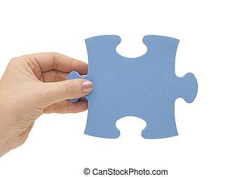 рука, головоломка, часть, collecting