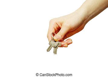 рука, ключ