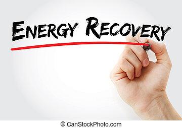 рука, письмо, энергия, восстановление, with, маркер