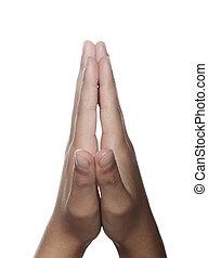 руки, молитва, clasped