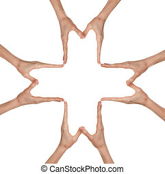 руки, forming, , большой, медицинская, пересекать