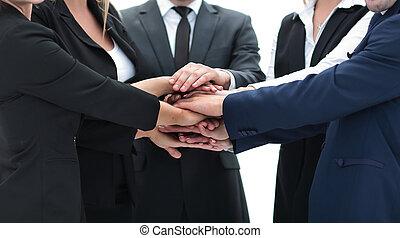 руки, together., clasped, бизнес, дружелюбный, команда