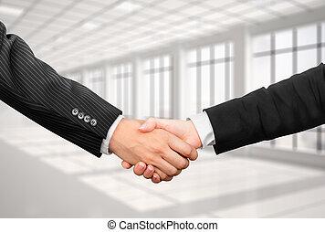 рукопожатие, женщина, офис, бизнес, фото, бизнесмен