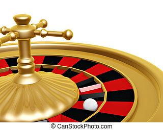 рулетка, колесо, of, казино