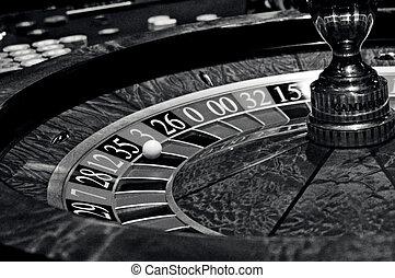 рулетка, прядение, колесо