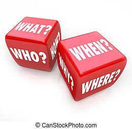 рулон, , игральная кость, -, questions, and, answers