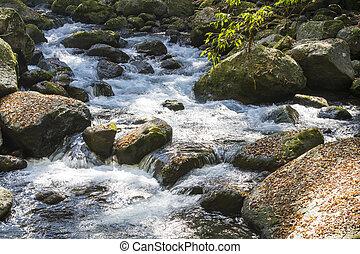 ручей, flowing