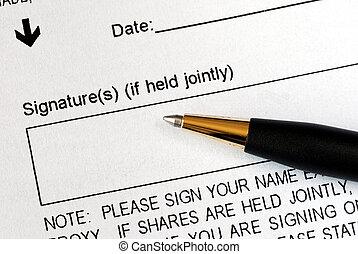 ручка, документ, правовой, знак