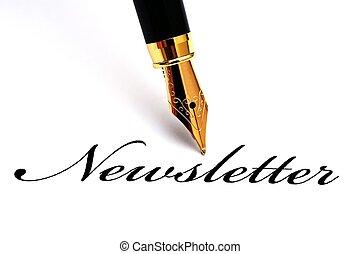ручка, новостная рассылка, фонтан