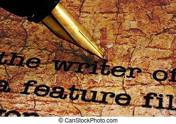 ручка, писатель, фонтан
