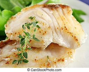 рыба, жареные, кастрюля