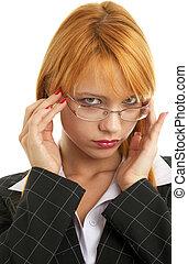 рыжеволосый, бизнес-леди