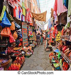 рынок, sreet, гранада, испания