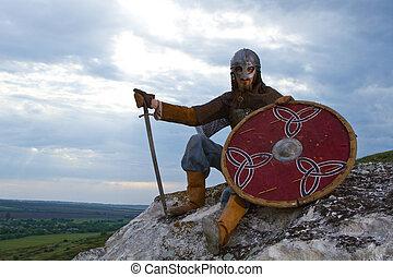 рыцарь, на, камень