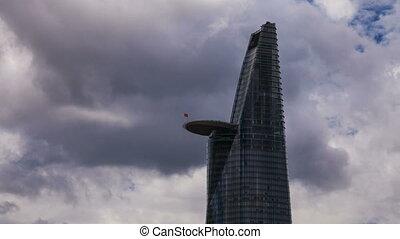 сайгон, -, небоскреб, cloudscape