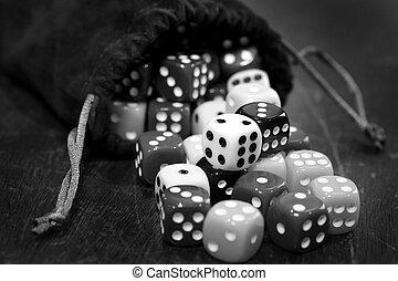 свая, of, игральная кость, для, азартные игры, игорный, and,...