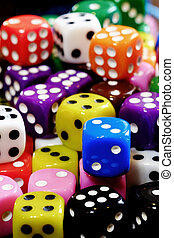 свая, of, игральная кость, для, азартные игры, игорный, and, playing, азартные игры