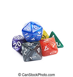 свая, of, многогранный, dices, isolated