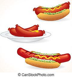 свежий, горячий, dogs