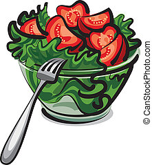 свежий, салат