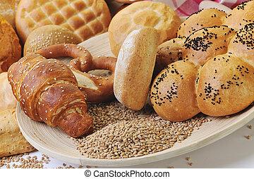 свежий, хлеб, питание, группа