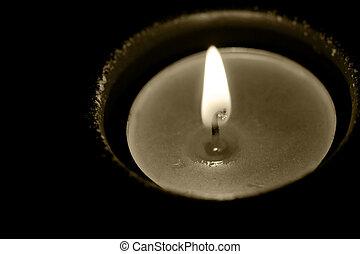 свеча, пламя