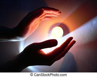 свеча, руки