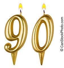 свечи, девяносто, номер, день рождения