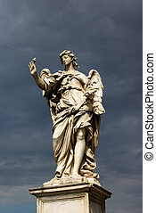 святой, ангел, with, , гвоздь, рим, италия