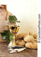 святой, хлеб, and, рыба