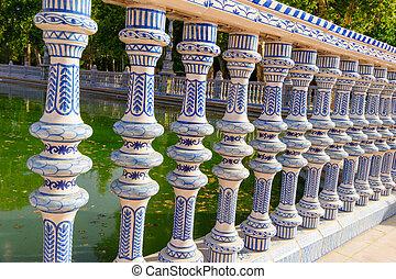 севилья, площадь, espana, de, известный, испания