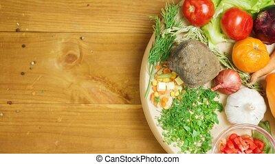 сезонная, видео, vegetables, пластина